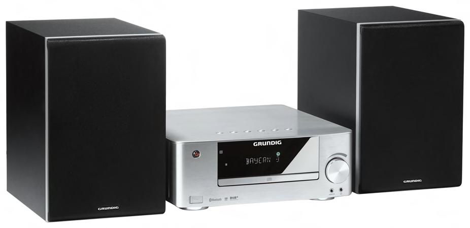 grundig m 2300 dab stereoanlage mit bluetooth und nfc alu. Black Bedroom Furniture Sets. Home Design Ideas