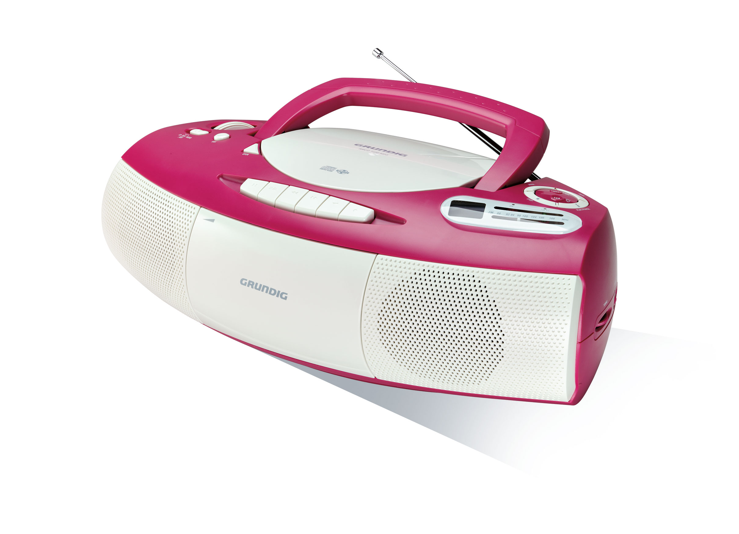grundig rrcd 1400 radio cd spieler cassetten recorder pink wei ebay. Black Bedroom Furniture Sets. Home Design Ideas