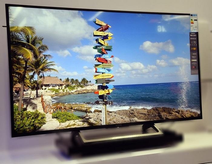 sony kd 55 xe 7096 led fernseher 4k uhd dvb t2hd smart tv schwarz ebay. Black Bedroom Furniture Sets. Home Design Ideas